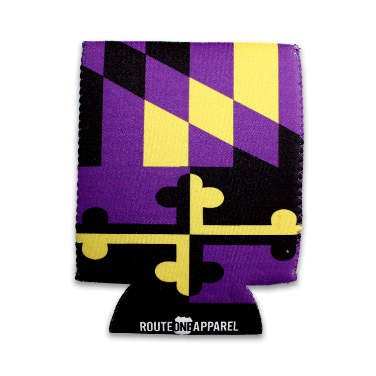 Baltimore Football Purple & Gold / Koozie - Route One Apparel