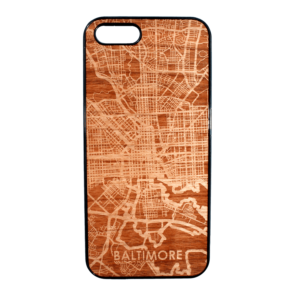 Baltimore Maryland Map / iPhone 5 Case - Route One Apparel
