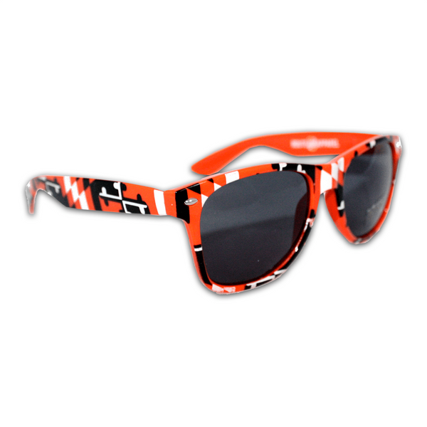 Baltimore Baseball Black & Orange Maryland Full Flag / Shades