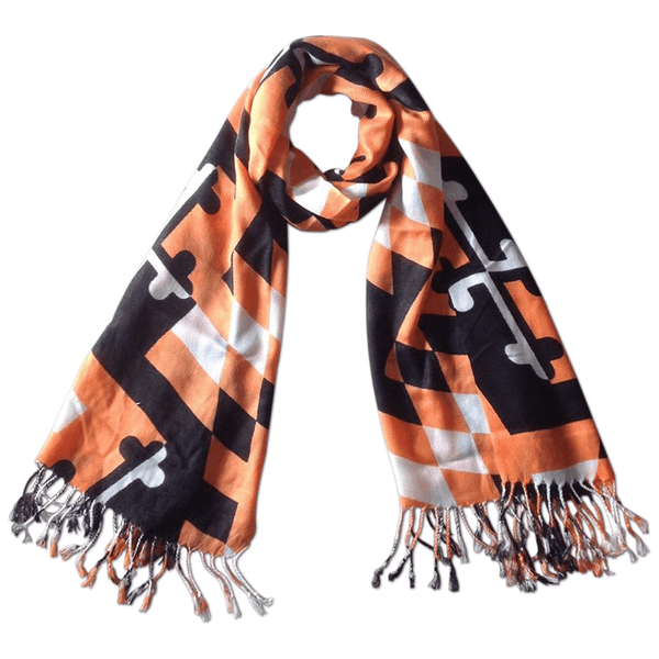 Baltimore Baseball Black & Orange Maryland Flag / Scarf
