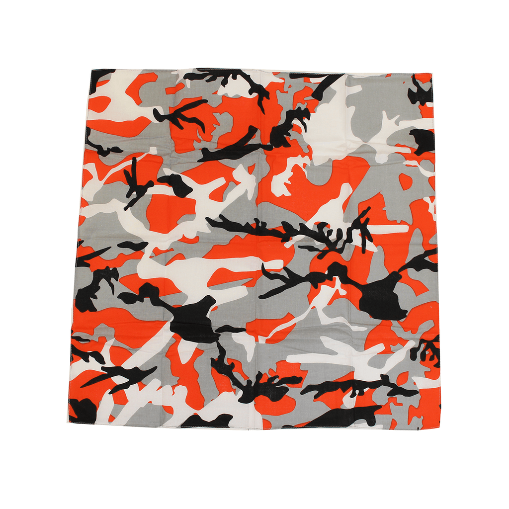 Black & Orange Branch Camo Maryland Flag / Bandana (22 x 22 inch) - Route One Apparel
