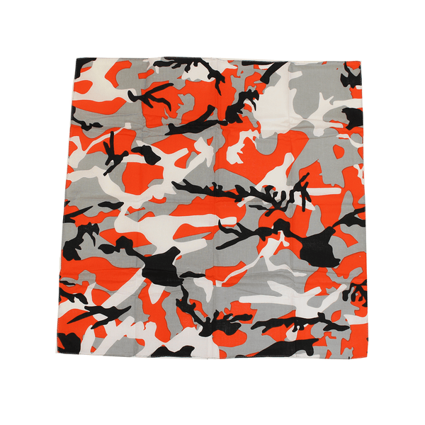Black & Orange Branch Camo Maryland Flag / Bandana (22 x 22 inch)