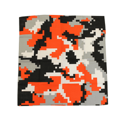 Baltimore Black & Orange Digi Camo / Bandana (22 x 22 inch) - Route One Apparel