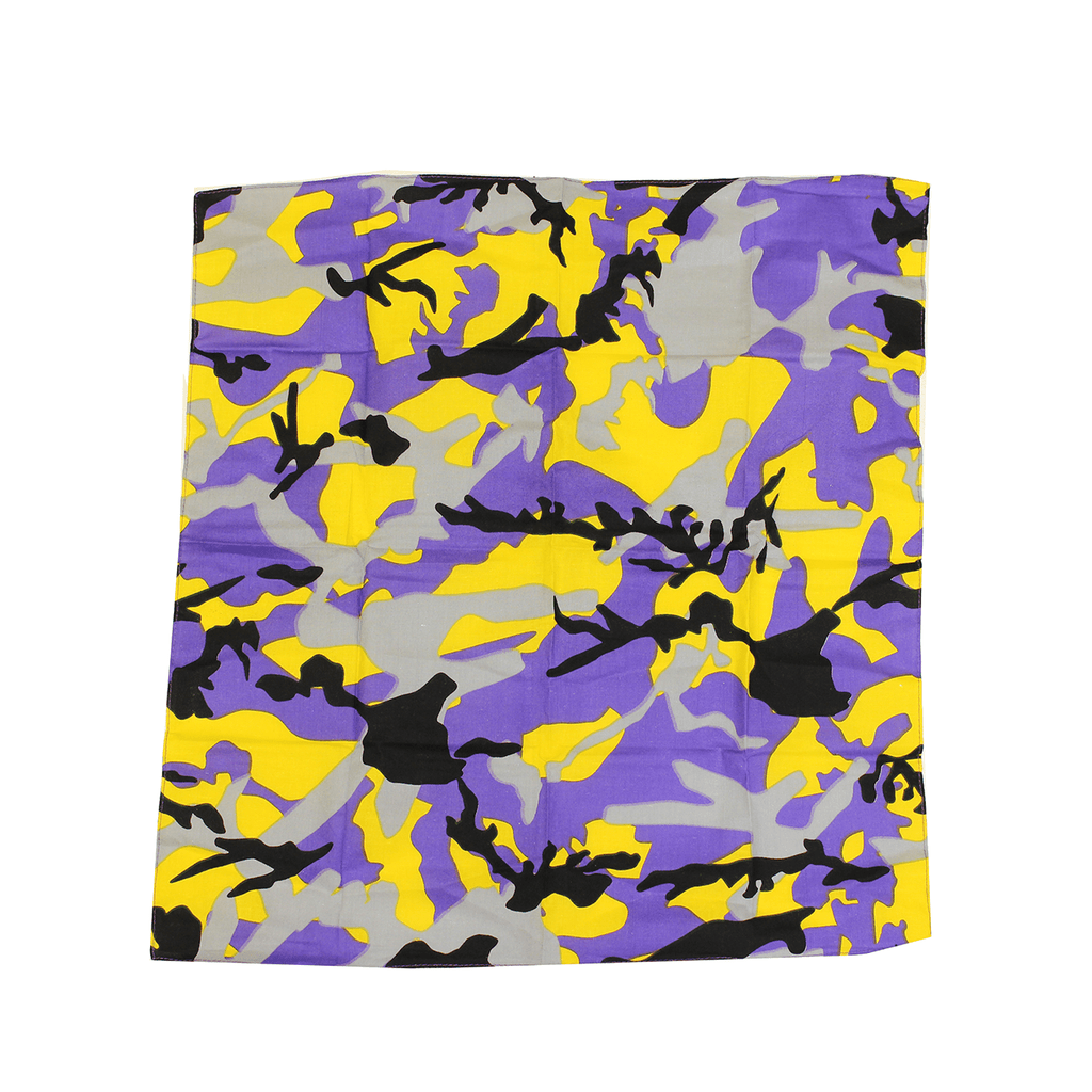 Purple & Gold Branch Camo Maryland Flag / Bandana (22 x 22 inch)