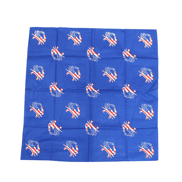 American Flag Crab (Royal Blue) / Bandana (22 x 22 inch)