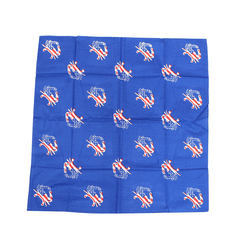 American Flag Crab (Royal Blue) / Bandana (22 x 22 inch) - Route One Apparel