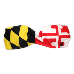 Maryland Flag / Scrunched Bandeau Top