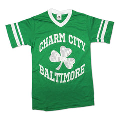 Charm City Shamrock / Striped Sleeve Jersey - Route One Apparel