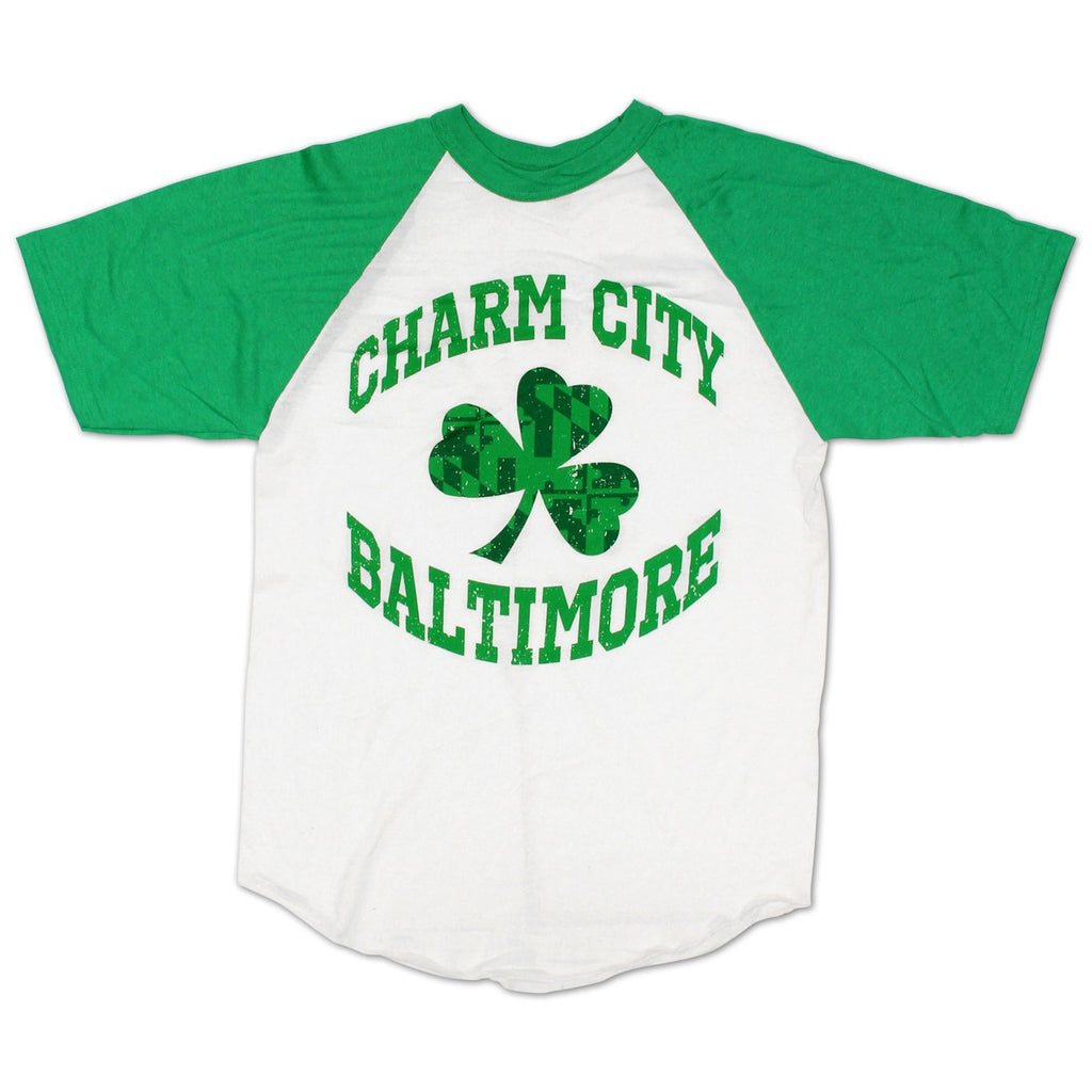 Charm City Shamrock / Baseball Jersey - Route One Apparel