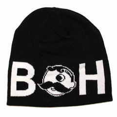 Basic Boh Logo Text (Black) / Knit Beanie Cap - Route One Apparel