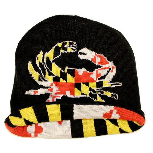 Maryland Flag   Full Flag Crab Reversible Knit Beanie – Route One Apparel 027478111a1