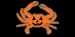 Halloween Jack Pumpkin Crab / Sticker