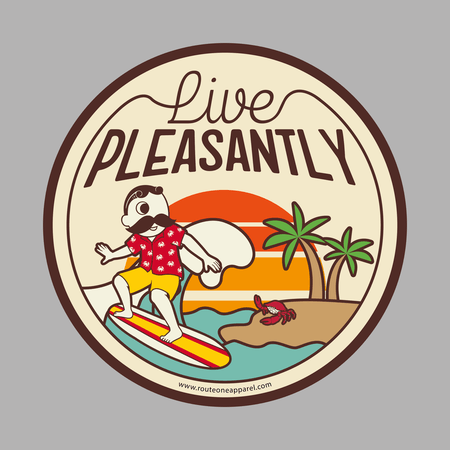 Natty Boh Live Pleasantly / Sticker