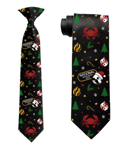 Natty Boh Christmas (Black) / Tie