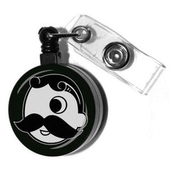 Natty Boh Logo (Black) / Retractable Badge Holder