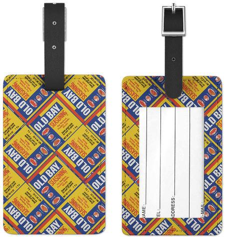 Old Bay Can Pattern / Luggage Tag