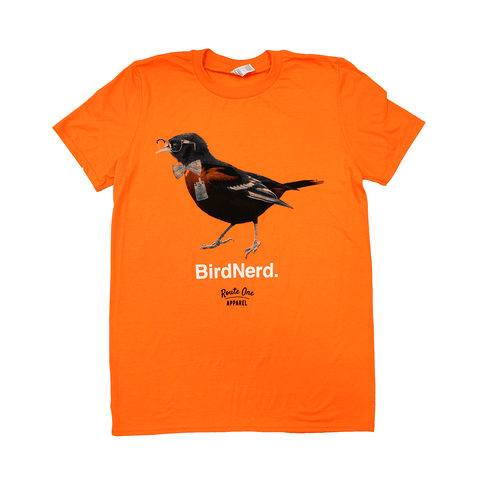 Bird Nerd (Orange) / Shirt - Route One Apparel