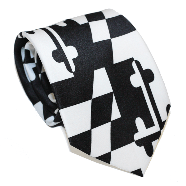 Black & White Maryland Flag / Tie