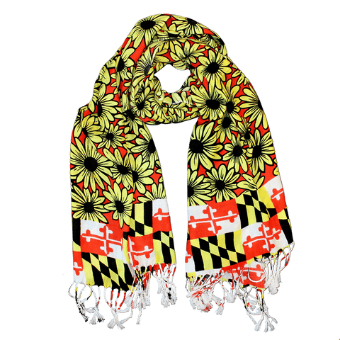 Black Eyed Susan Maryland Flag (Red) / Scarf - Route One Apparel