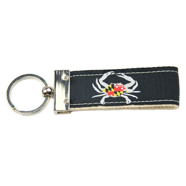 Maryland Flag Crab (Black) / Key Chain