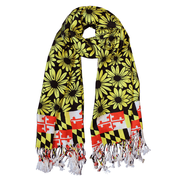 Black Eyed Susan Maryland Flag (Black) / Scarf - Route One Apparel