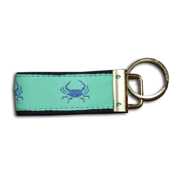 Lime & Blue Crab / Key Chain