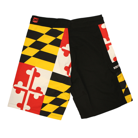 Maryland Flag (Black) / Board Shorts