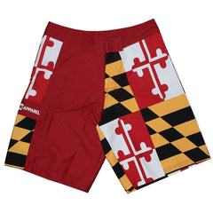 Maryland Flag (Red) / Board Shorts