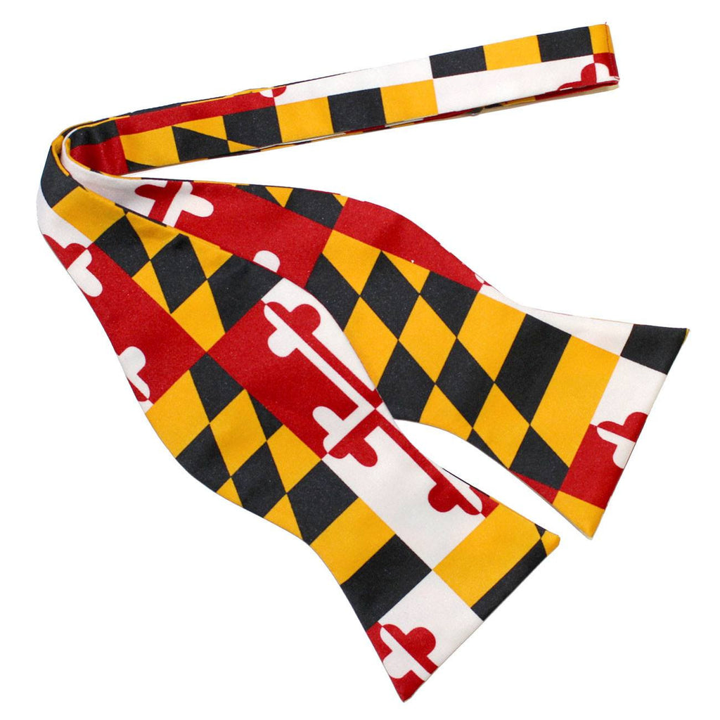 Maryland Flag / Self-Tie Bowtie
