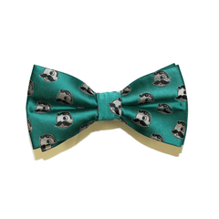 Embroidered Natty Boh Logo Pattern (Green) / Pre-Tie Bowtie