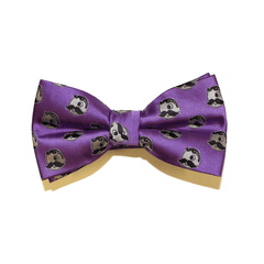 Embroidered Natty Boh Logo Pattern (Purple) / Pre-Tie Bowtie