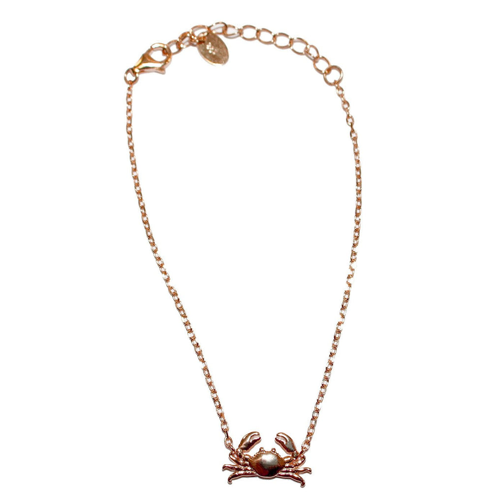 Maryland Blue Crab (Sterling Silver w/ 14K Rose Gold Vermeil) / Bracelet