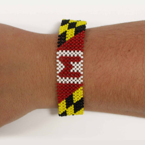 Maryland Flag / Bead Bracelet