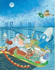 Chesapeake Santa and Sleigh / Christmas Card - Route One Apparel