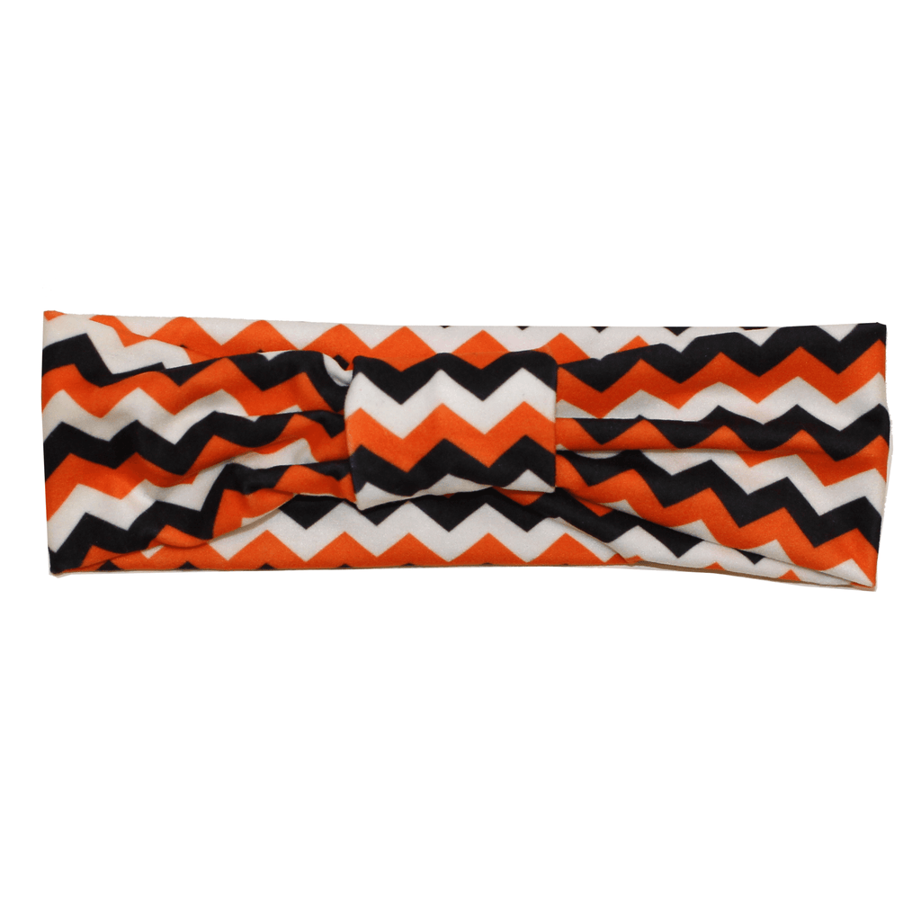 Chevron (Black, Orange & White) / Headband - Route One Apparel