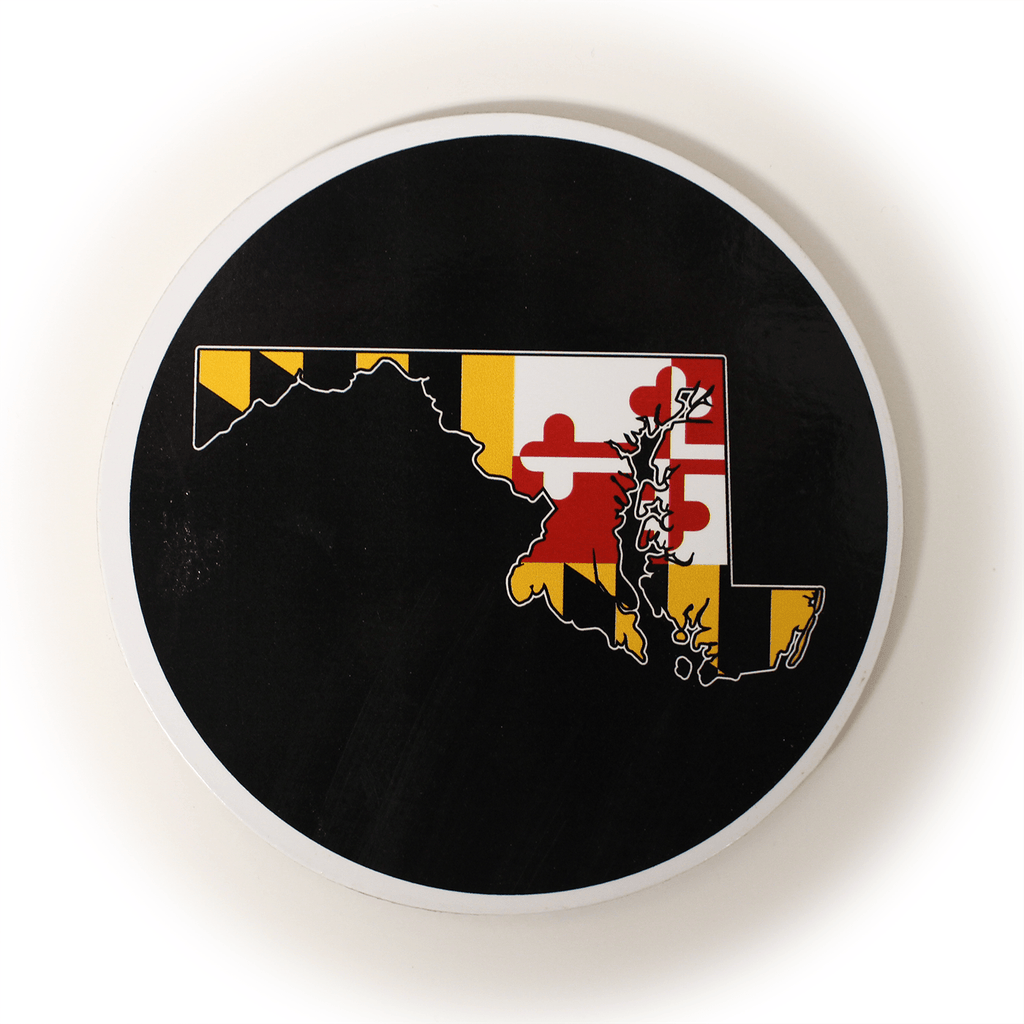 Maryland Flag State (Black) / Cork Coaster
