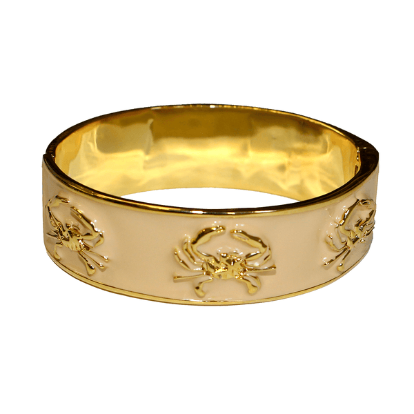 Enamel Crab (Tan/Gold) / Bangle Bracelet