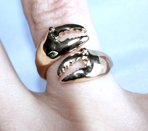 Crab Claw (Antique Gold) / Ring - Route One Apparel