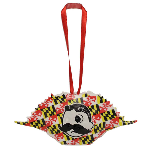 Natty Boh Logo Maryland Flag (Style 2) / Crab Shell Ornament