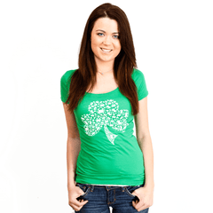 Crab Shamrock / Ladies Scoop Neck Shirt - Route One Apparel