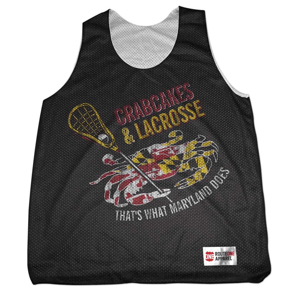 3ddfe58d1fad2 Crabcakes & Lacrosse Mesh Tank Pinnie – Route One Apparel