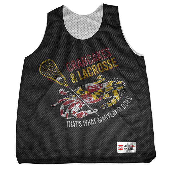 Crabcakes & Lacrosse / Mesh Tank - Route One Apparel