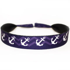 Nautical Anchor Chevron (Style 2) / Neoprene Sunglass Strap