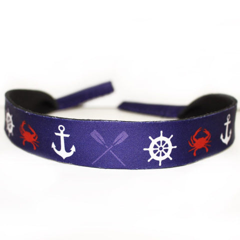 Nautical Crab, Anchor & Oar / Neoprene Croakie