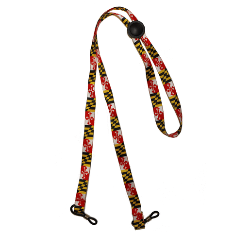 Maryland Flag w/ Adjustable Strap / Croakie