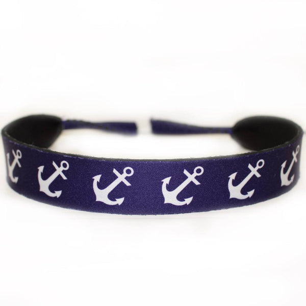 Nautical Anchor (Blue) / Neoprene Sunglass Strap