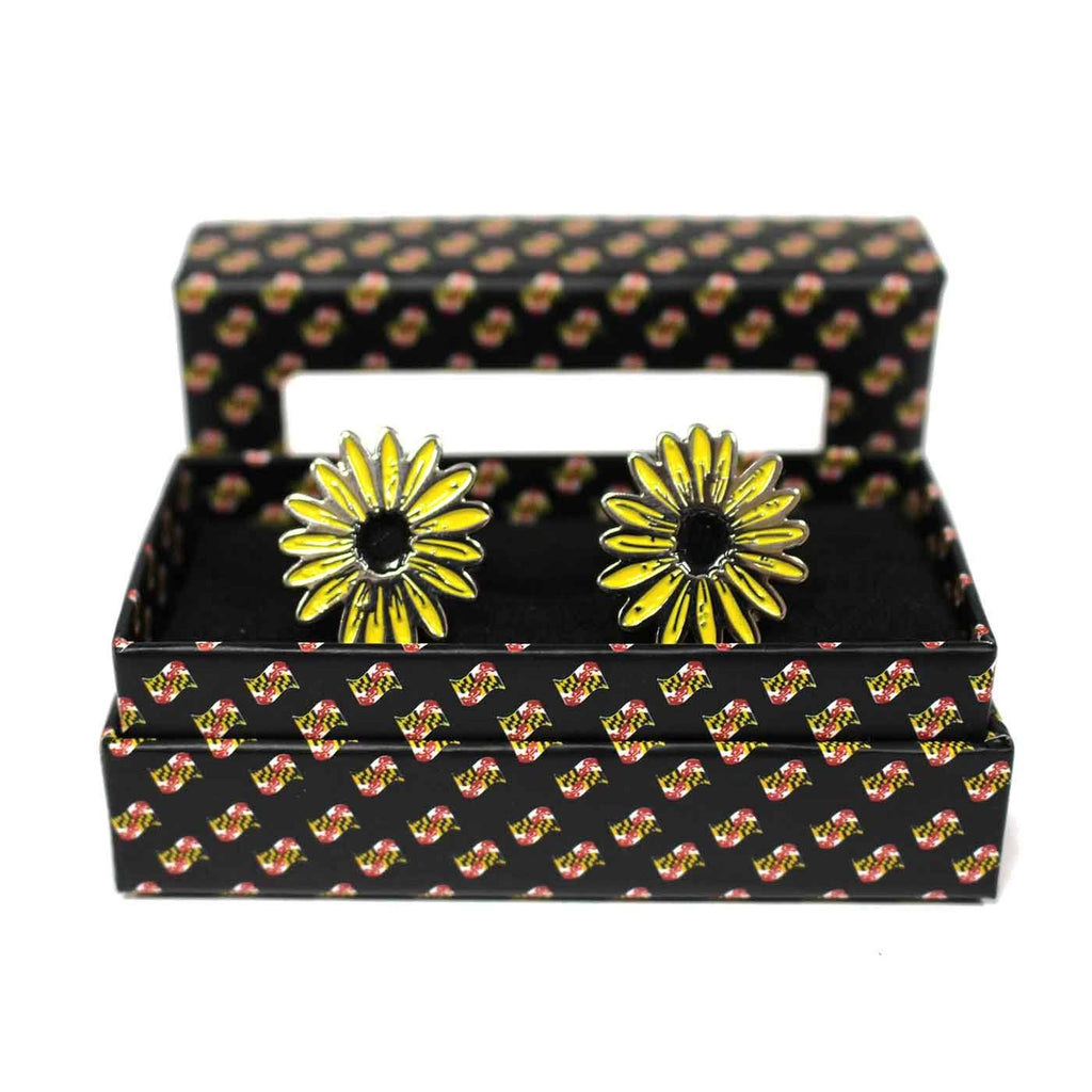 Black Eyed Susan / Enamel Cufflinks