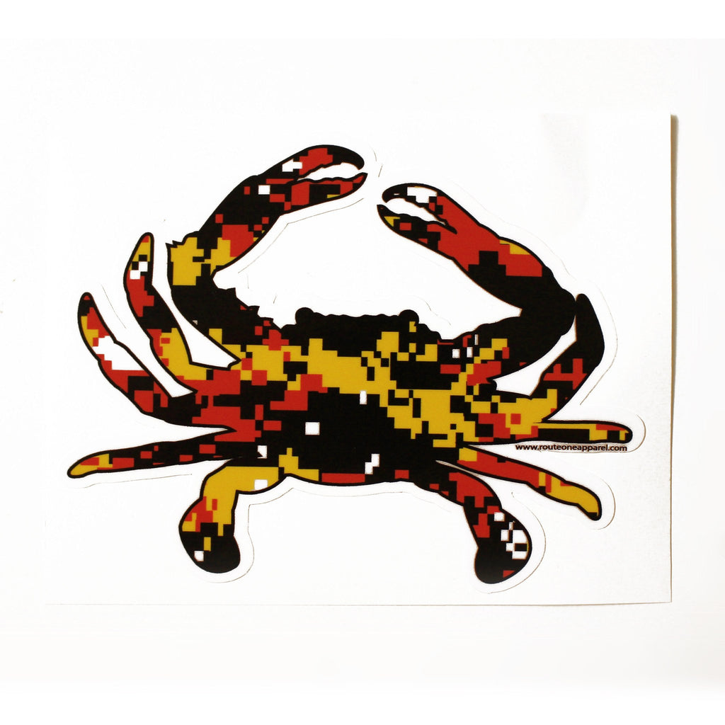 Maryland Colors Crab Digi Camo / Sticker
