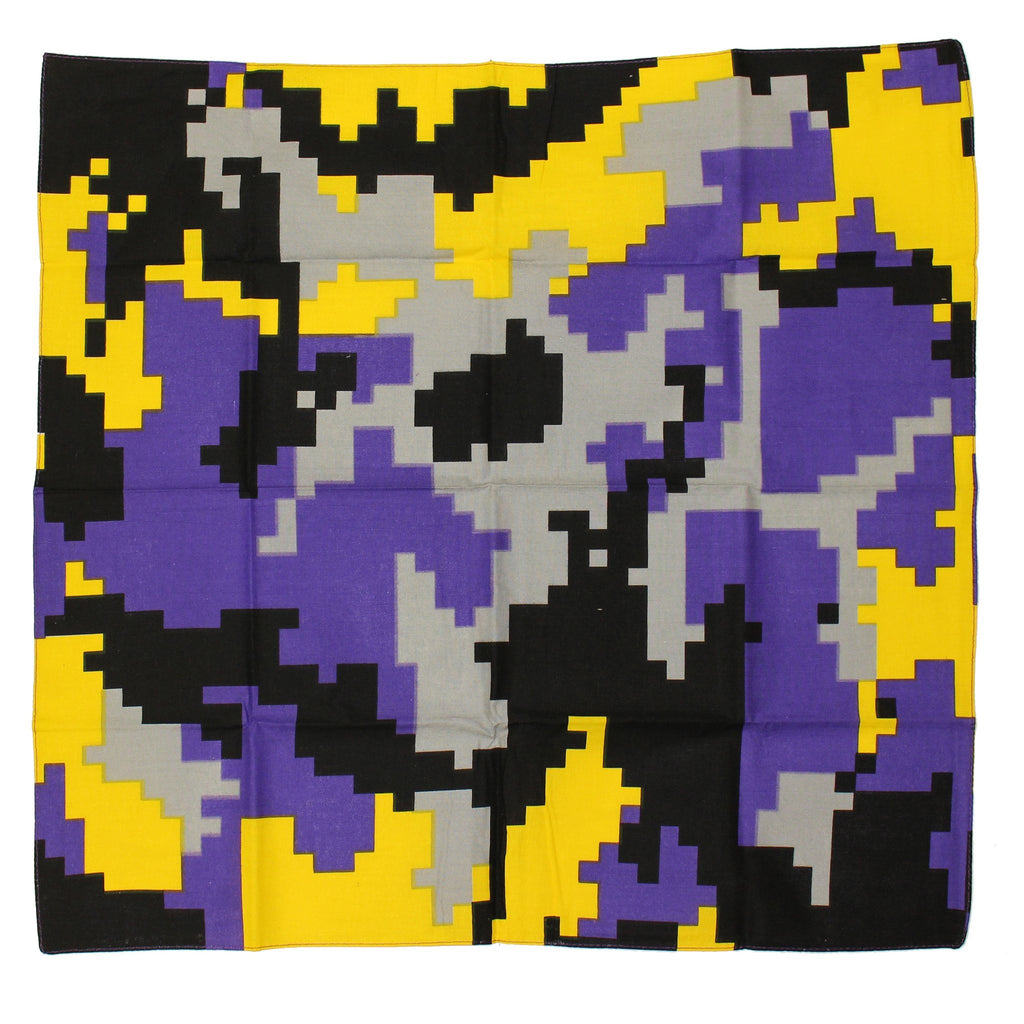 Baltimore Purple & Gold Digi Camo / Bandana (22 x 22 inch) - Route One Apparel