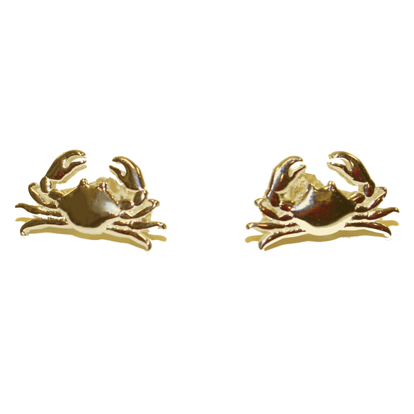 Maryland Blue Crab (Sterling Silver w/ 14K Gold Vermeil) / Earrings